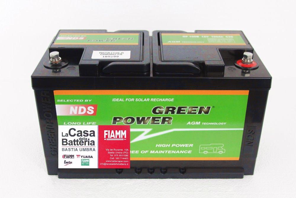 Batteria per cellula camper green power gp100b 12v 100 - Batteria per casa ...