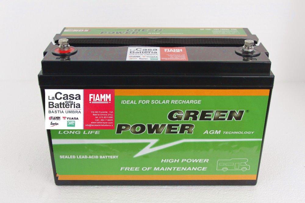 Batteria per cellula camper green power gp120 120ah agm vrla la casa della batteria - Batteria per casa ...