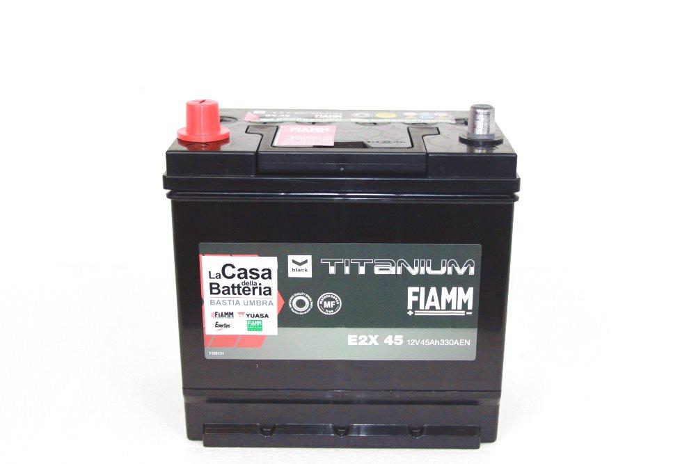 batteria auto fiamm titanium blak - e2x 45 sx la casa della batteria